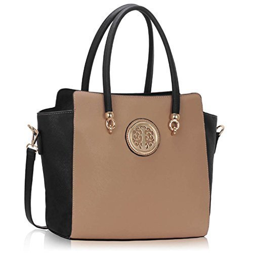 Designer Faux Leather New Handbag Womens Fashion Tote Shoulder Bags Ladies Large