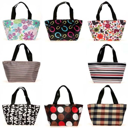 1pcs Lunch Picnic Dining Shopping Travel Tote Bag Zipper Handbag