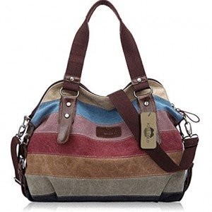 Kiss-GoldTM-Womens-Canvas-Multi-Color-Shopper-Tote-Shoulder-Bag-0