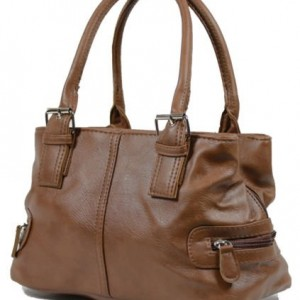 Ladies-Leather-Style-Shoulder-Handbag-Zipped-3-Compartments-Bag-0