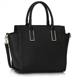 Womens-Handbags-Ladies-Designer-Shoulder-Bag-Faux-Leather-3-Compartments-Tote-New-Celebrity-Style-Large-0